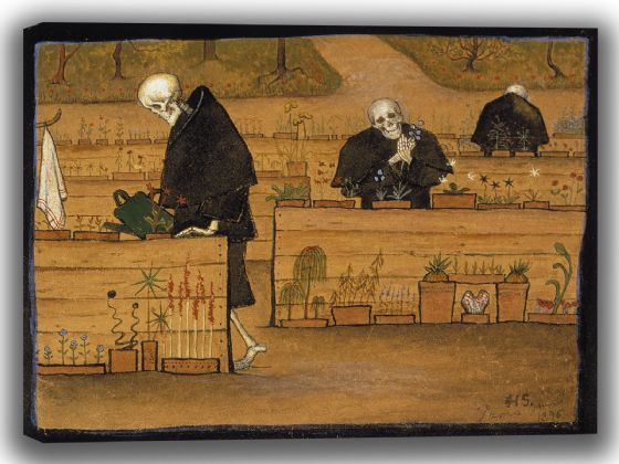 Simberg, Hugo: The Garden of Death. Fine Art Canvas. Sizes: A4/A3/A2/A1 (0049)